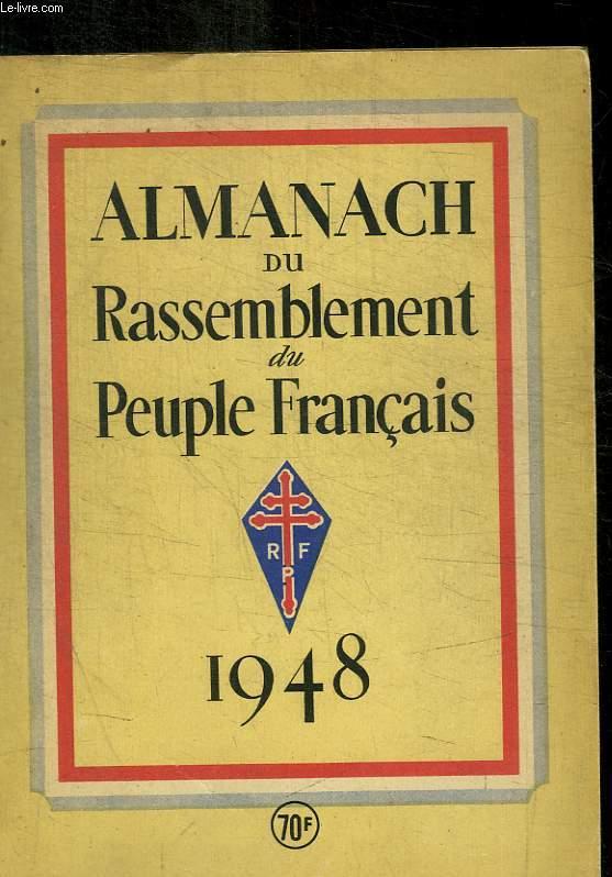 ALMANACH DU RASSEMBLEMENT DU PEUPLE FRANCAIS
