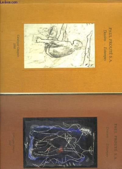 DESSINS - ESTAMPES / EN 2 VOLUMES : CATALOGUE BRAQUE 1997 + CATALOGUE GAUGUIN 1998
