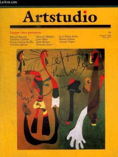 ARTSTUDIO - N° 14- AUTOMNE 1989 -  OUVERTURE LA MAISSON SOURD / L ESPAGNE MORTE ET VIVE / LIMITES ET PERSPECTIVE DU JEUNE ART ESPAGNOL / JOAN MIRO / ANTONIO SAURA / MANOLO MILLARES / TAPIES / JOSE MARIA SICILIA /.../