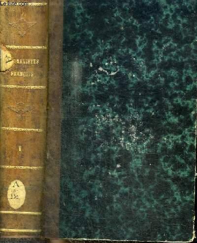 COLLECTION DE MORALISTES FRANCAIS (MONTAIGNE - CHARRON - PASCAL - LA ROCHEFOUCAULD - LA BRUYERE - VAUVENARGUES - DUCLOS) PUBLIEE AVEC DES COMMENTAIRES  ET DE NOUVELLES NOTICES BIOGRAPHIQUES - VOLUME 1
