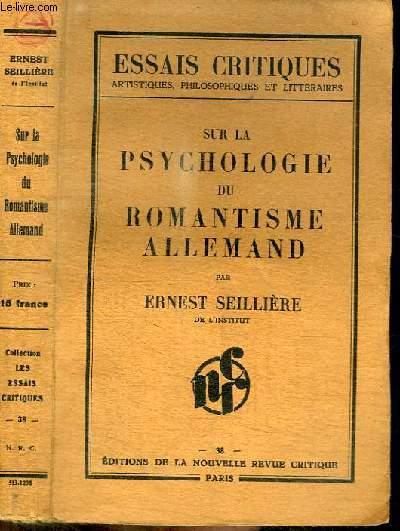 SUR LA PSYCHOLOGIE DU ROMANTISME ALLEMAND