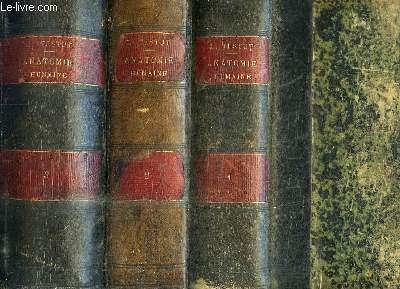 TRAITE D'ANATOMIE HUMAINE - ANATOMIE DESCRIPTIVE - HISTOLOGIE - DEVELOPPEMENT - 3 TOMES EN 3 VOLUMES - TOME 1 : OSTEOLOGIE - ARTHROLOGIE MYOLOGIE - TOME 2 : ANGEIOLOGIE NEVROLOGIE - TOME 3 : ORGANES DES SENS APPAREIL DE LA DIGESTION APPAREIL DE LA RESPIRA