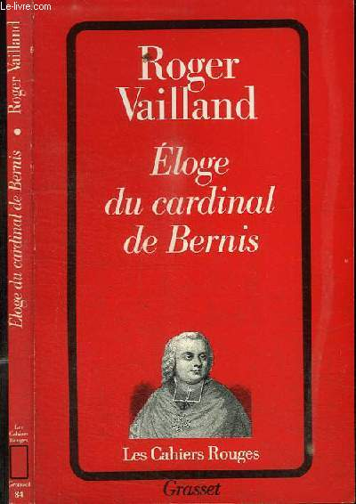 ELOGE DU CARDINAL DE BERNIS