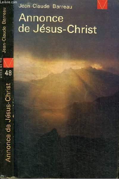 ANNONCE DE JESUS-CHRIST