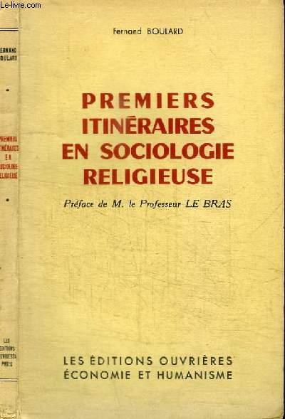 PREMIERS ITINERAIRES EN SOCIOLOGIE RELIGIEUSE