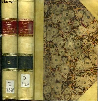 DE ECCLESIAE SACRAMENTIS - COMMENTATIUS IN TERTIAM PARTEM S. THOMAE - 2 TOMES EN 2 VOLUMES (TOME 1+2)