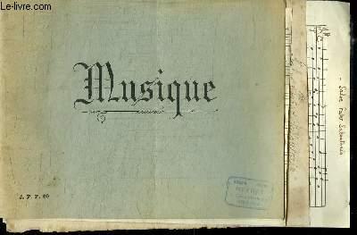 MUSIQUE: PARTITIONS MANUSCRITES