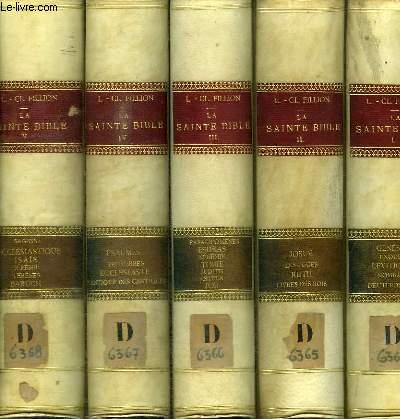 LA SAINTE BIBLE COMMENTEE D'APRES LA VULGATE ET LES TEXTES ORIGINAUX - 7 TOMES EN 7 VOLUMES (TOME 1+2+3+4+5+6+8) MANQUE LE TOME 7 - TOME 1 : GENESE EXODE LEVETIQUE NOMBRES DEUTERONOME - TOME 2 : JOSUE LES JUGES RUTH LIVRES DES ROIS - TOME 3 : PARALIPOMENE