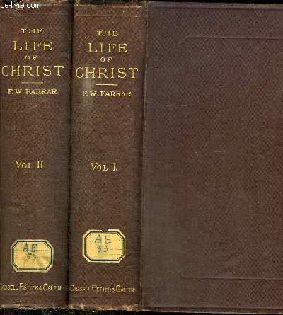 THE LIFE OF CHRIST - 2 TOMES EN 2 VOLUMES (TOME 1+2)