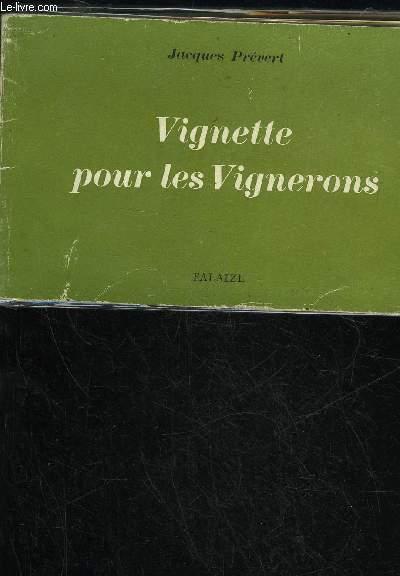 VIGNETTE POUR LES VIGNERONS