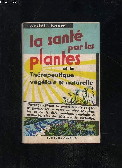 LA SANTE PAR LES PLANTES