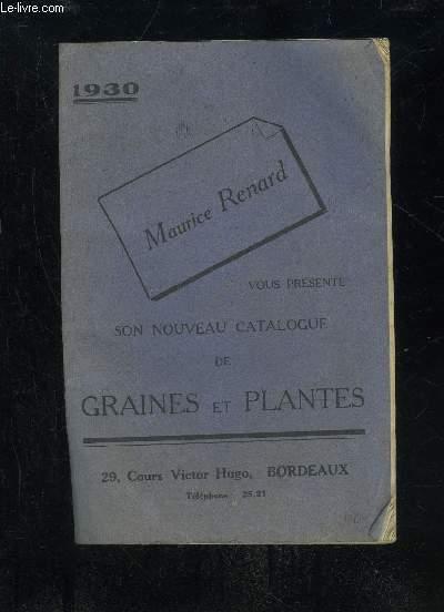 NOUVEAU CATALOGUE DE GRAINES ET PLANTES 1930