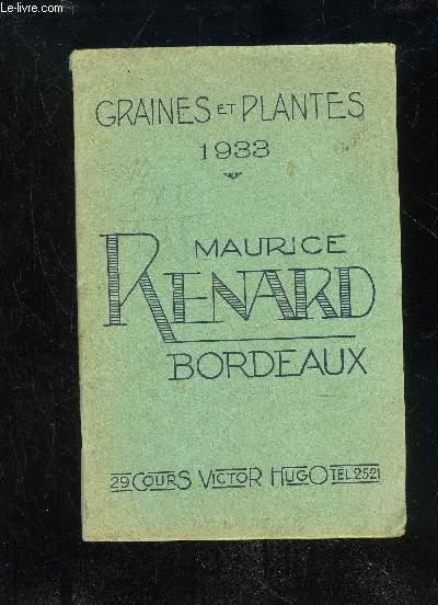 GRAINES ET PLANTES 1933