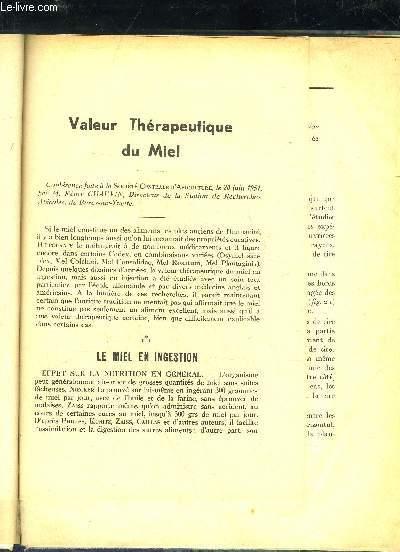 VALEUR THERAPEUTIQUE DU MIEL