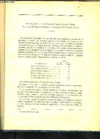 LES FACTEURS DE L'AGRESSIVITE CHEZ L'ABEILLE
