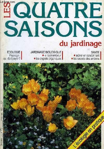 LES QUATRE SAISONS DU JARDINAGE N°79 MARS AVRIL 1993 -  Paysage qui doit payer ? - grandeur et misère du topinambour - le topinambour la fougère et le petit cochon - orange ou citron ? - un jardin en terrain sec - pommes et poires sachez les ensacher.
