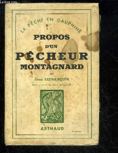 PROPOS D'UN PECHEUR MONTAGNARD