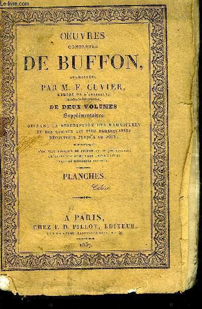 SUPPLEMENT A L'HISTOIRE NATURELLE GENERALE ET PARTICULIERE DE BUFFON - TOME 1 MAMMIFERES - PAS DE GRAVURES.