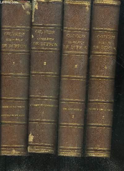 OEUVRES COMPLETES DE BUFFON (AVEC LA NOMENCLATURE LINNEENNE ET LA CLASSIFICATION DE CUVIER) REVUES SUR L'EDITION IN-4 DE L'IMPRIMERIE ROYALE ET ANNOTEES PAR FLOURENS - EN 12 VOLUMES - TOMES 1 A 12.