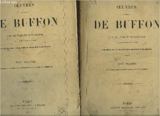 OEUVRES COMPLETES DE BUFFON AVEC DES EXTRAITS DE DAUBENTON ET LA CLASSIFICATION DE CUVIER - 8 VOLUMES - TOMES 1 + 2 + 3 + 4 + 6 + 7 + 8 + 9 - MANQUE LE TOME 5 TOMAISON INCOMPLETE.