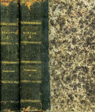 OEUVRES COMPLETES DE BUFFON AVEC DES EXTRAITS DE DAUBENTON ET LA CLASSIFICATION DE CUVIER - TOME TROISIEME + TOME QUATRIEME - MAMMIFERES I + II.