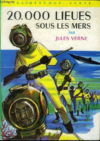 20 000 LIEUES SOUS LES MERS - COLLECTION BIBLIOTHEQUE VERTE.