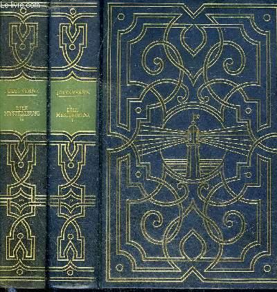 LES OEUVRES DE JULES VERNE N°9 ET 10 - L'ILE MYSTERIEUSE - EN DEUX TOMES - TOMES 1 + 2 .