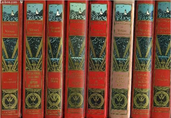 LOT DE 14 VOLUMES DE LA COLLECTION LES INTEGRALES JULES VERNE GRANDES OEUVRES - VOIR LA NOTICE.