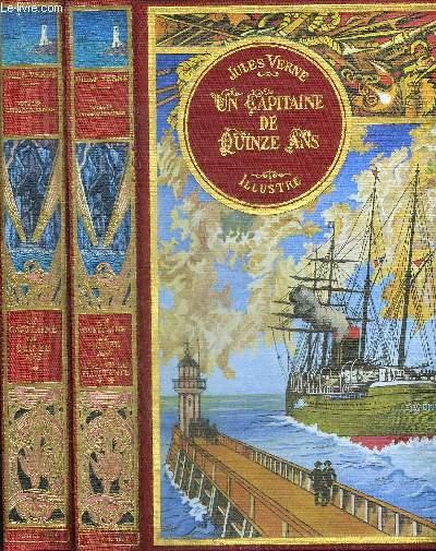 UN CAPITAINE DE QUINZE ANS  - PREMIER + SECOND VOLUME + UNE VILLE FLOTTANTE - 2 VOLUMES.