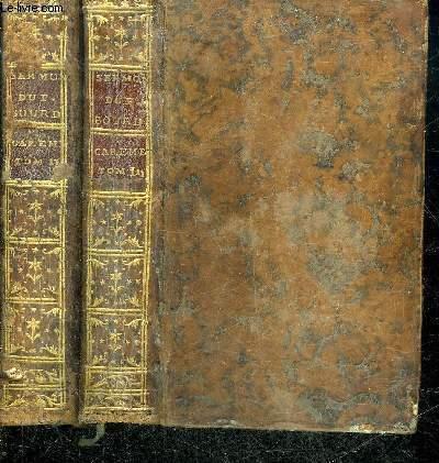 SERMONS DU PERE BOURDALOUE DE LA COMPAGNIE DE JESUS POUR LE CARESME - EN DEUX TOMES - TOMES 2 + 3 - 6E EDITION.