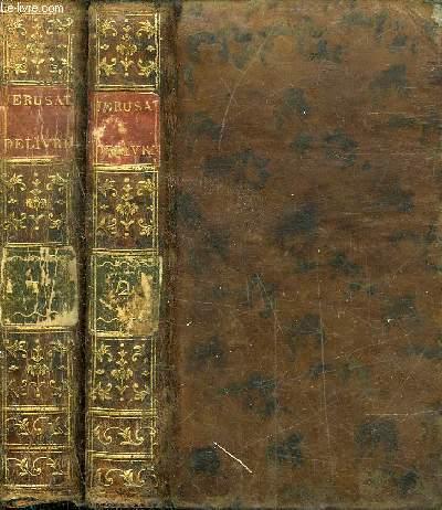 JERUSALEM DELIVREE POEME DU TASSE - TRADUIT DE L'ITALIEN - NOUVELLE EDITION REVUE & CORRIGEE - EN 2 TOMES - TOMES 1 + 2 .