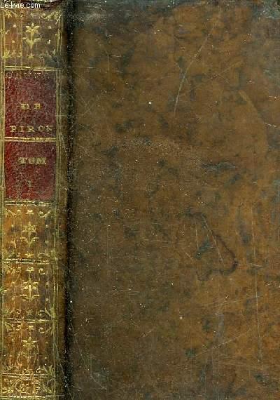 OEUVRES COMPLETES D'ALEXIS PIRON PUBLIEES PAR M.RIGOLEY DE JUVIGNY - TOME PREMIER - INCOMPLET .