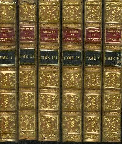 THEATRE DE PIERRE CORNEILLE AVEC DES COMMENTAIRES - EN 12 TOMES - TOMES 1 A 12 .