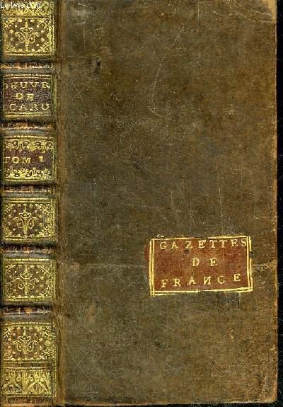 LES OEUVRES DE MONSIEUR SCARRON - TOME PREMIER SEUL - NOUVELLE EDITION REVUE CORRIGEE & AUGMENTEE.