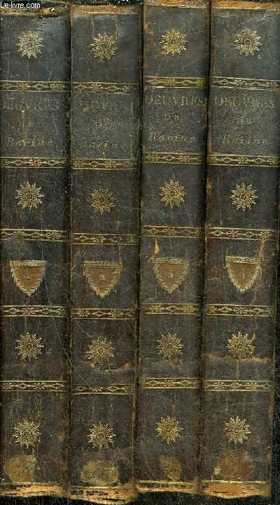 OEUVRES COMPLETES DE JEAN RACINE - NOUVELLE EDITION - EN 4 TOMES - TOMES 1 + 2 + 3 + 4 .