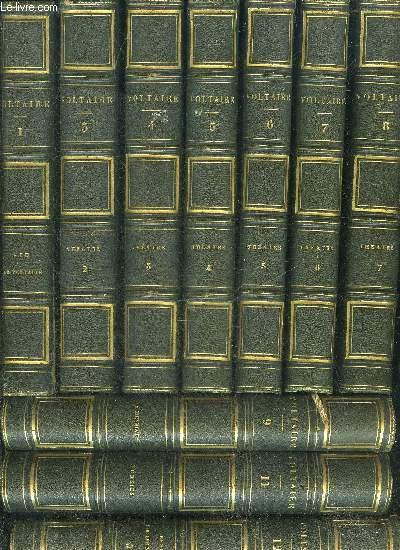 OEUVRES COMPLETES DE VOLTAIRE AVEC NOTES PREFACES AVERTISSEMENS REMARQUES HISTORIQUES ET LITTERAIRES - 45 VOLUMES - TOMAISON INCOMPLETE VOIR LA NOTICE.