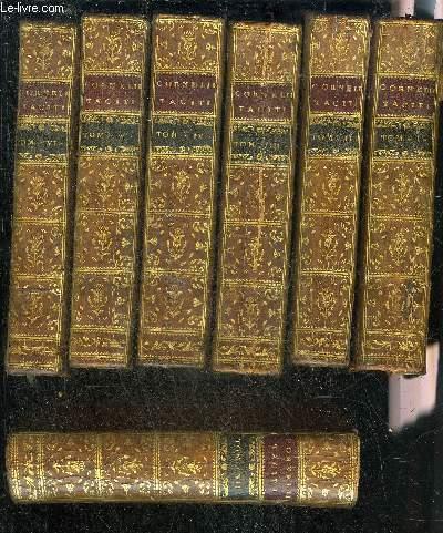 C.CORNELII TACITI OPERA SUPPLEMENTIS NOTIS ET DISSERTATIONIBUS ILLUSTRATAVIT GABRIEL BROTIER - EN 7 TOMES EN 7 VOLUMES - TOMES 1 + 2 + 3 + 4 + 5 + 6 + 7 .