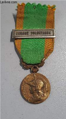 MEDAILLE ENGAGE VOLONTAIRE - AVEC BARRETTE ENGAGE VOLONTAIRE.