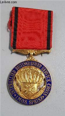 MEDAILLE INTERALLIED DISTINGUISHED SERVICE CROSS - IMOS SPHINX - FOR YOUR AND OUR FREEDOM.