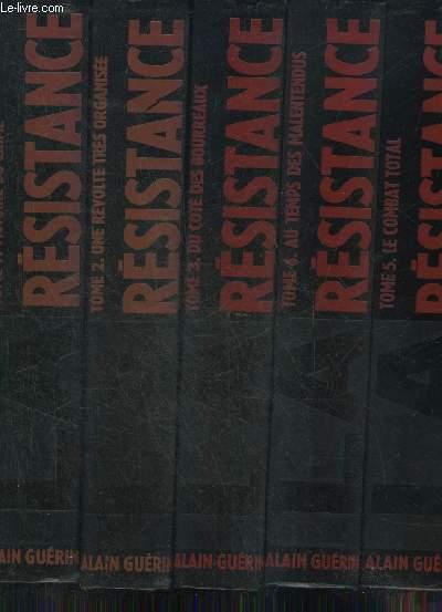 LA RESISTANCE CHRONIQUE ILLUSTREE 1930-1950 - EN  5 TOMES - TOMES 1 + 2 + 3 + 4 + 5.