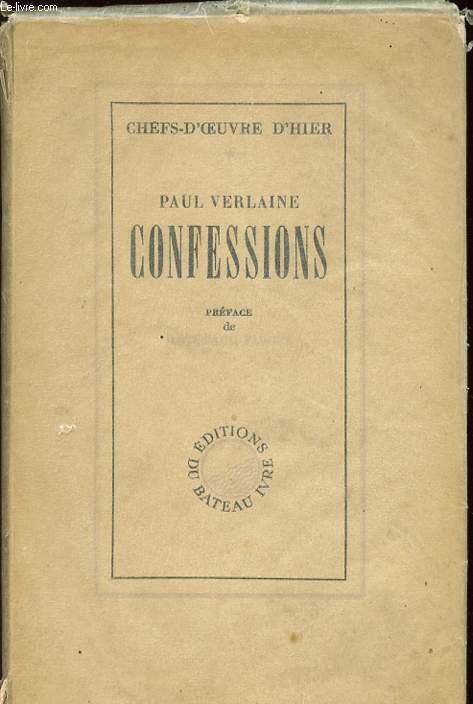 CONFESSIONS - NOTES AUTOBIOGRAPHIQUES - Collection Chefs-D'oeuvre d'Hier.