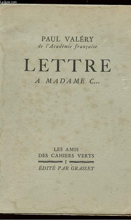 LETTRE A MADAME C... - Collection