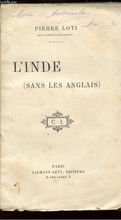 L'INDE (SANS LES ANGLAIS).