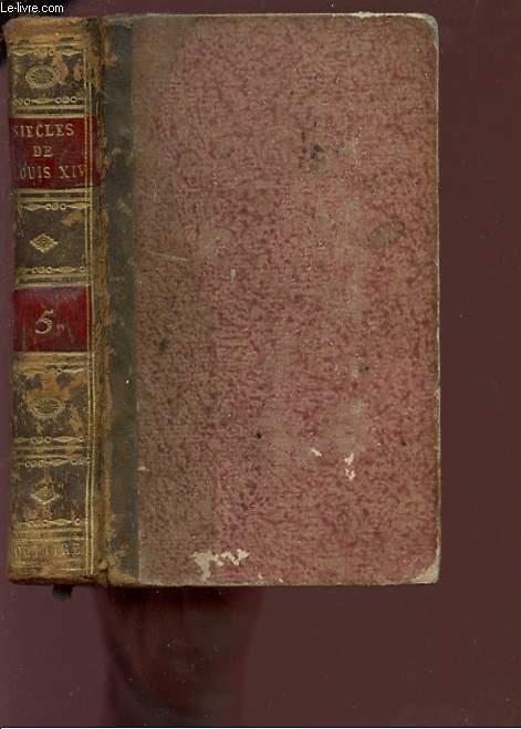 SIECLES DE LOUIS XIV, ET DE LOUIS XV - TOME CINQUIEME.