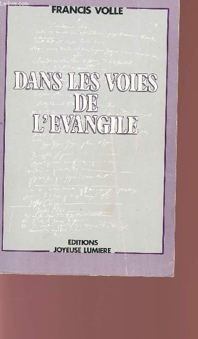 DANS LIES VOIES DE L'EVANGILE.