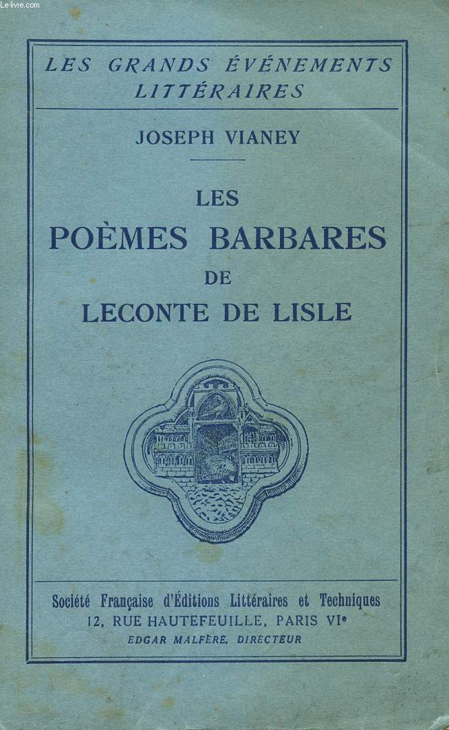 LES POEMES BARBARES DE LECONTE DE LISLE - COLLECTION