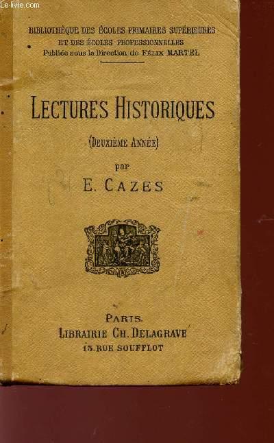 LECTURES HISTORIQUES - DEUXIEME ANNEE - COLLECTION