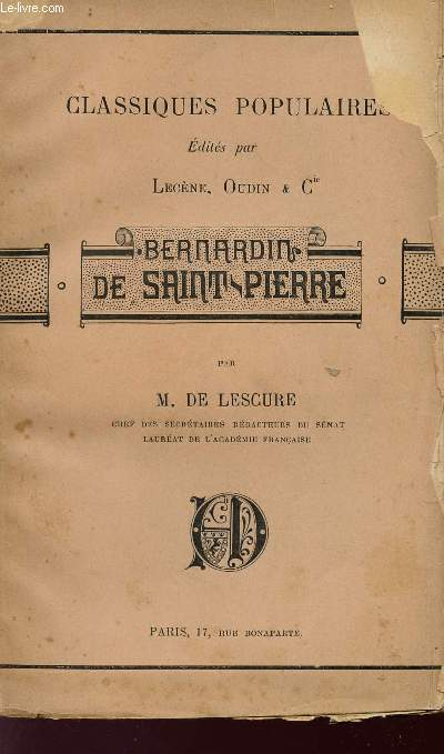 BERNARDIN DE SAINT-PIERRE - COLLECTION