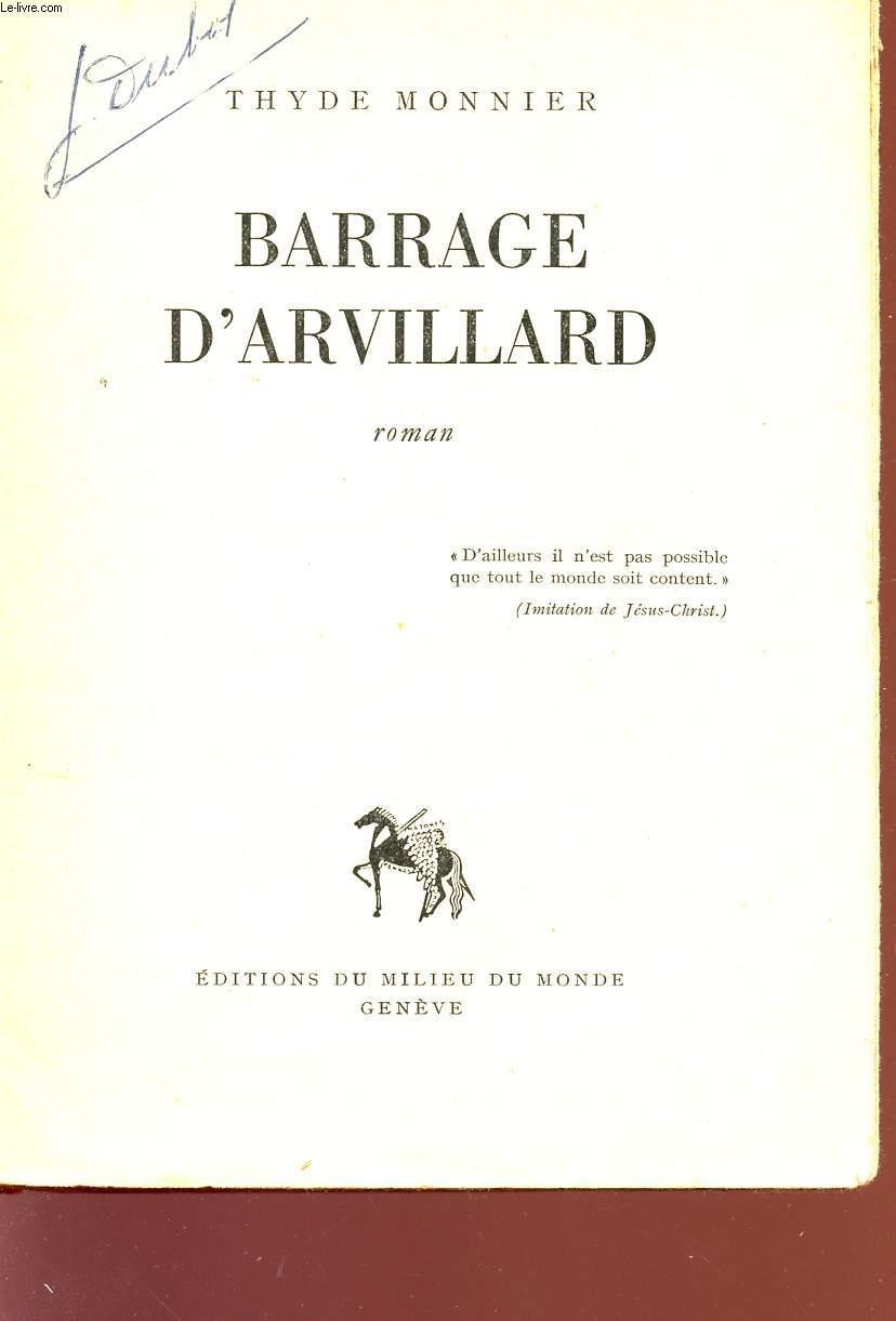BARRAGE D'ARVILLARD.