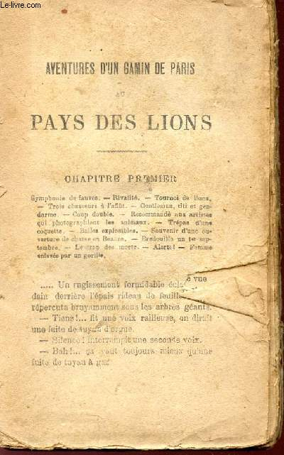 AVENTURES D'UN GAMIN DE PARIS AU PAUS DES LIONQ.
